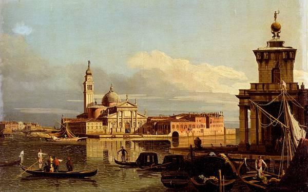 A View In Venice From The Punta Della Dogana Towards San Giorgio Maggiore